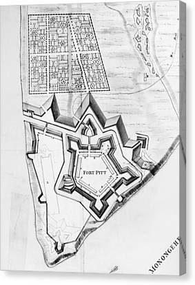 Fort Pitt, 1761 Canvas Print by Granger