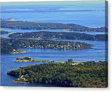 Fort Popham, Georgetown Canvas Print by Dave Cleaveland