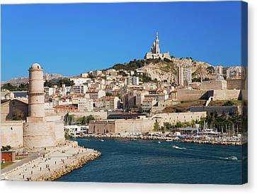 Fort Saint-jean And Old Port Of Third Canvas Print