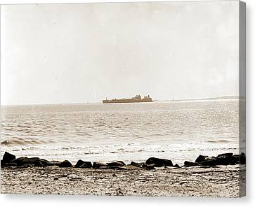 Fort Sumter From Sullivans Island, Charleston Canvas Print by Litz Collection
