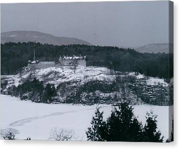 Fort Ticonderoga From Mount Independence Canvas Print by David Fiske