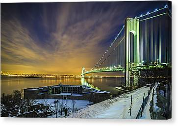 Fort Wadsworth And Verrazano Bridge Canvas Print
