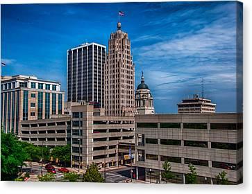 Fort Wayne Skyscrapers Canvas Print