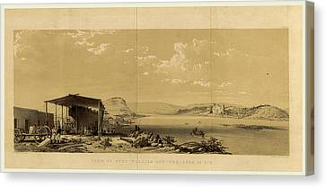 Fort William And The Town Of Bir, Narrative Canvas Print