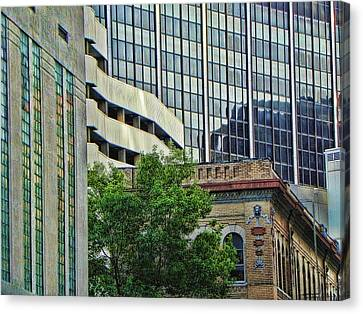 Fort Worth Old And New Canvas Print by Kathy Churchman