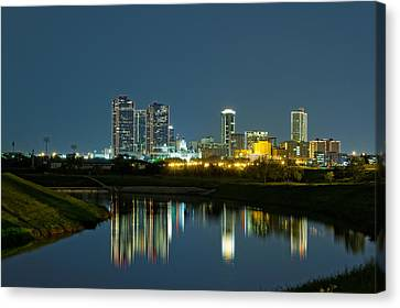 Fort Worth Reflection Canvas Print