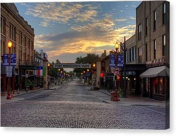 Fort Worth Stockyards Sunrise Canvas Print by Jonathan Davison