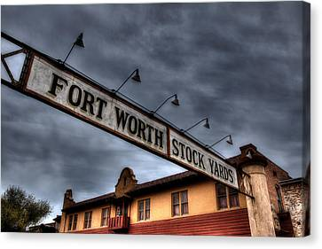 Fort Worth Stockyards Welcome Canvas Print
