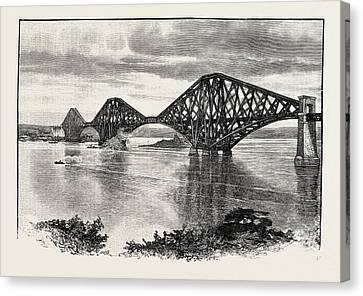 Forth Bridge, From The South-west. The Forth Bridge Canvas Print by Scottish School