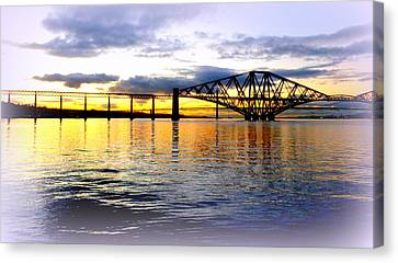 Forth Rail Bridge At Sunset Canvas Print by The Creative Minds Art and Photography