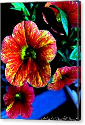 Fortinos Petunias Canvas Print by Danielle  Parent