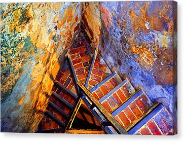 Fortress Steps Canvas Print by Stephen Anderson
