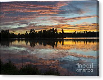 Fortune Lake Canvas Print by Dan Hefle