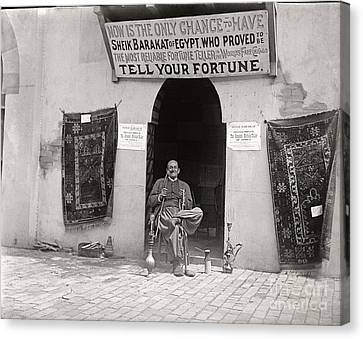 Canvas Print featuring the photograph Fortune Teller San Francisco Exposition 1894 by Martin Konopacki Restoration
