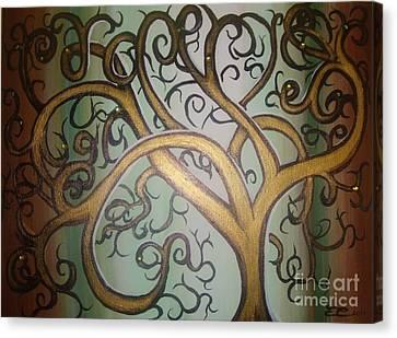 Fortune Tree Canvas Print by Elena  Constantinescu