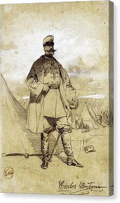 Fortuny, Mariano 1838-1874. El Coronel Canvas Print by Everett