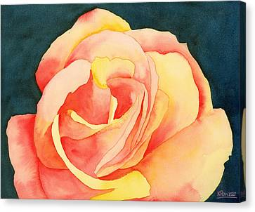 Forty-five Minute Rose Canvas Print by Ken Powers