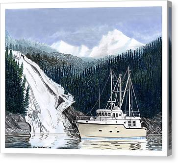 Forty Foot Nordhavn Northern Anchorage Canvas Print by Jack Pumphrey