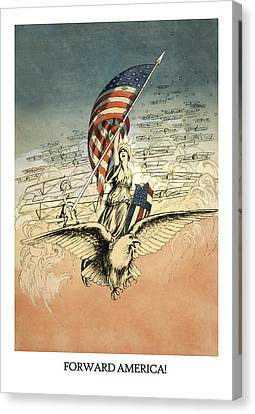 Forward America Canvas Print by Aged Pixel