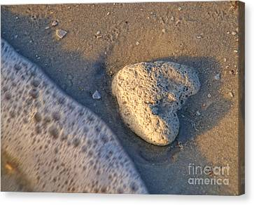Found Heart Canvas Print by Peggy Hughes