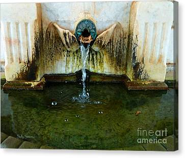 Fountain At Andersonville Canvas Print by Sally Simon