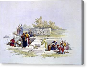 Fountain At Cana  Canvas Print by Munir Alawi