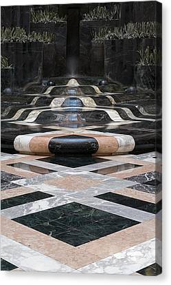 Canvas Print featuring the photograph Fountain Flow by Glenn DiPaola
