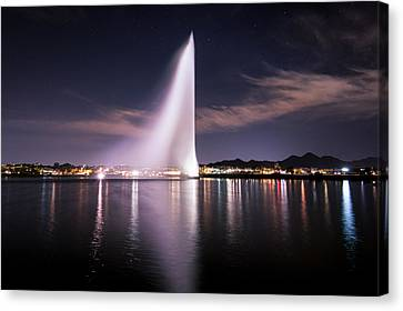 Fountain Hills At Night Canvas Print