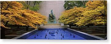 Fountain In A Garden, Fountain Of The Canvas Print