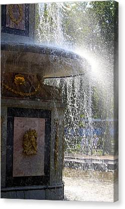 Fountain Canvas Print by Michael Fitzpatrick