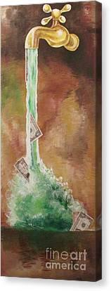 Fountain Canvas Print
