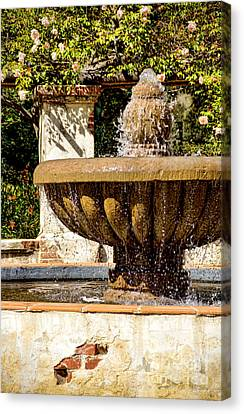 Fountain Of Beauty Canvas Print by Peggy Hughes