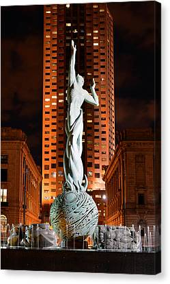 Fountain Of Eternal Life Canvas Print by Clint Buhler