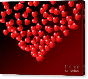 Fountain Of Love Hearts Canvas Print by Kiril Stanchev