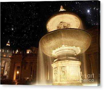 Fountain Of San Peter Canvas Print by Sandro Rossi