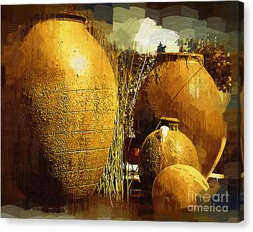 Fountain Of  Urns Canvas Print by Kirt Tisdale