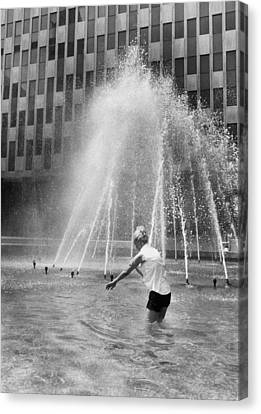 Fountain Relief Canvas Print by Underwood Archives