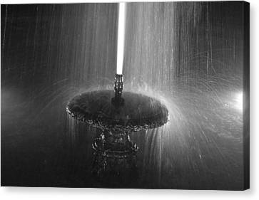 Fountain Spray Canvas Print by Bill Mock