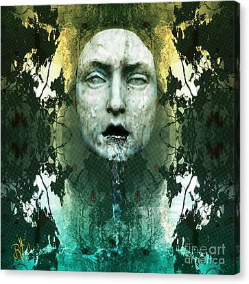 Canvas Print featuring the digital art Fountainhead Dream by Rosa Cobos