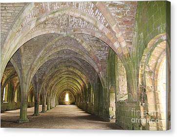 Fountains Abbey Cellarium  Canvas Print