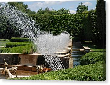 Canvas Print featuring the photograph Fountains by Jennifer Ancker