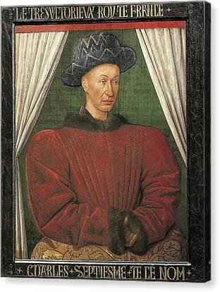 1420 Canvas Print - Fouquet, Jean 1420-1481. Portrait by Everett