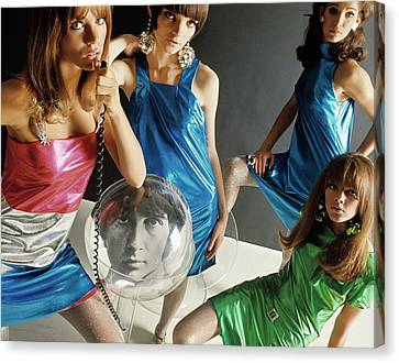 Four 1960s Style Models Canvas Print by David Mccabe