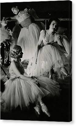 Ballet Dancers Canvas Print - Four Ballet Dancers by Remie Lohse
