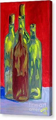 Four Bottles Canvas Print by Greg Mason Burns