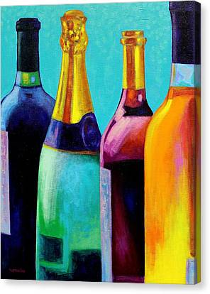 Four Bottles Canvas Print by John  Nolan