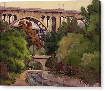 Four Bridges Canvas Print by Jane Thorpe