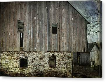 Four Broken Windows Canvas Print by Joan Carroll