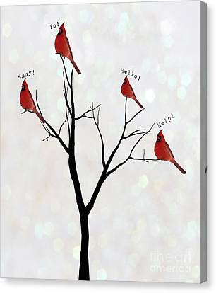 Calling Canvas Print - Four Calling Birds by Juli Scalzi