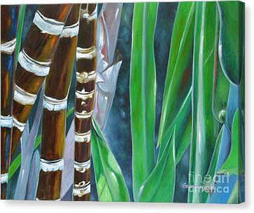 Four Canes For Green Canvas Print